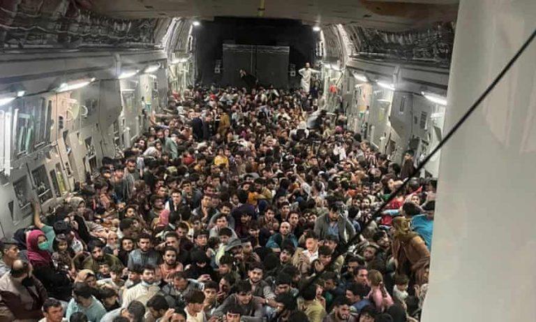 640 people fleeing Kabul in US plane